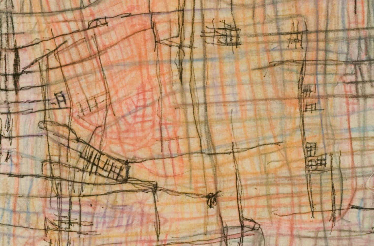 Abstraktes Gemälde von Adolf Beutler