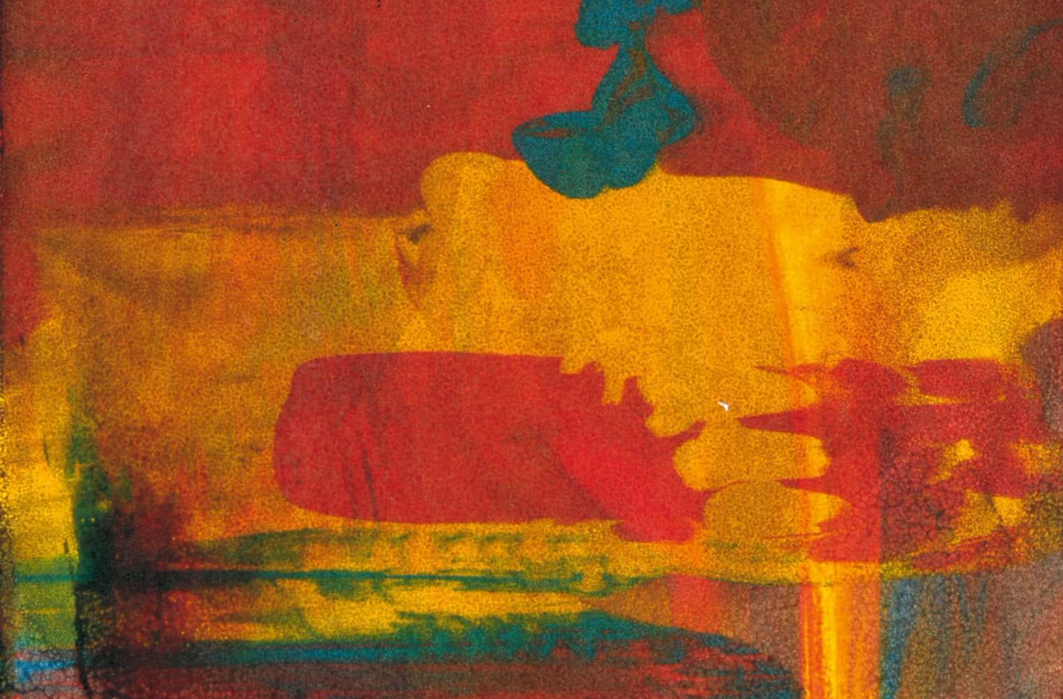 Abstraktes Malkunstwerk in mehreren Farben