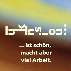 """Die Illustration von Eva-Maria Gugg zeigt den Schriftzug """"Inklusion ist schön, macht aber viel Arbeit"""", wobei das Wort Inklusion grafisch so aufgel..."""