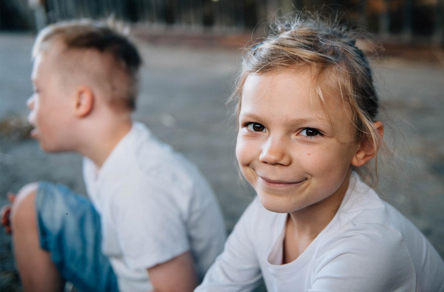 Geschwisterkinder, Foto: Kathrin Stahl