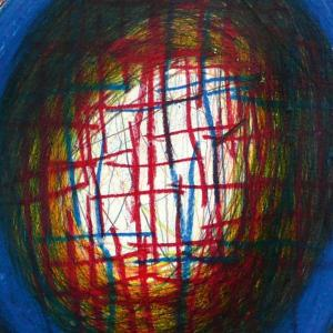 Mehrfärbiges abstraktes Kunstwerk
