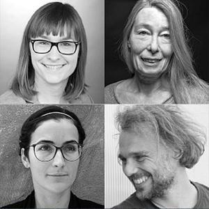 Porträtfotos von Karolina Goschiniak, Sabine Hecklau-Seibert, Viktoria Grundmann und Bernd Traxl.