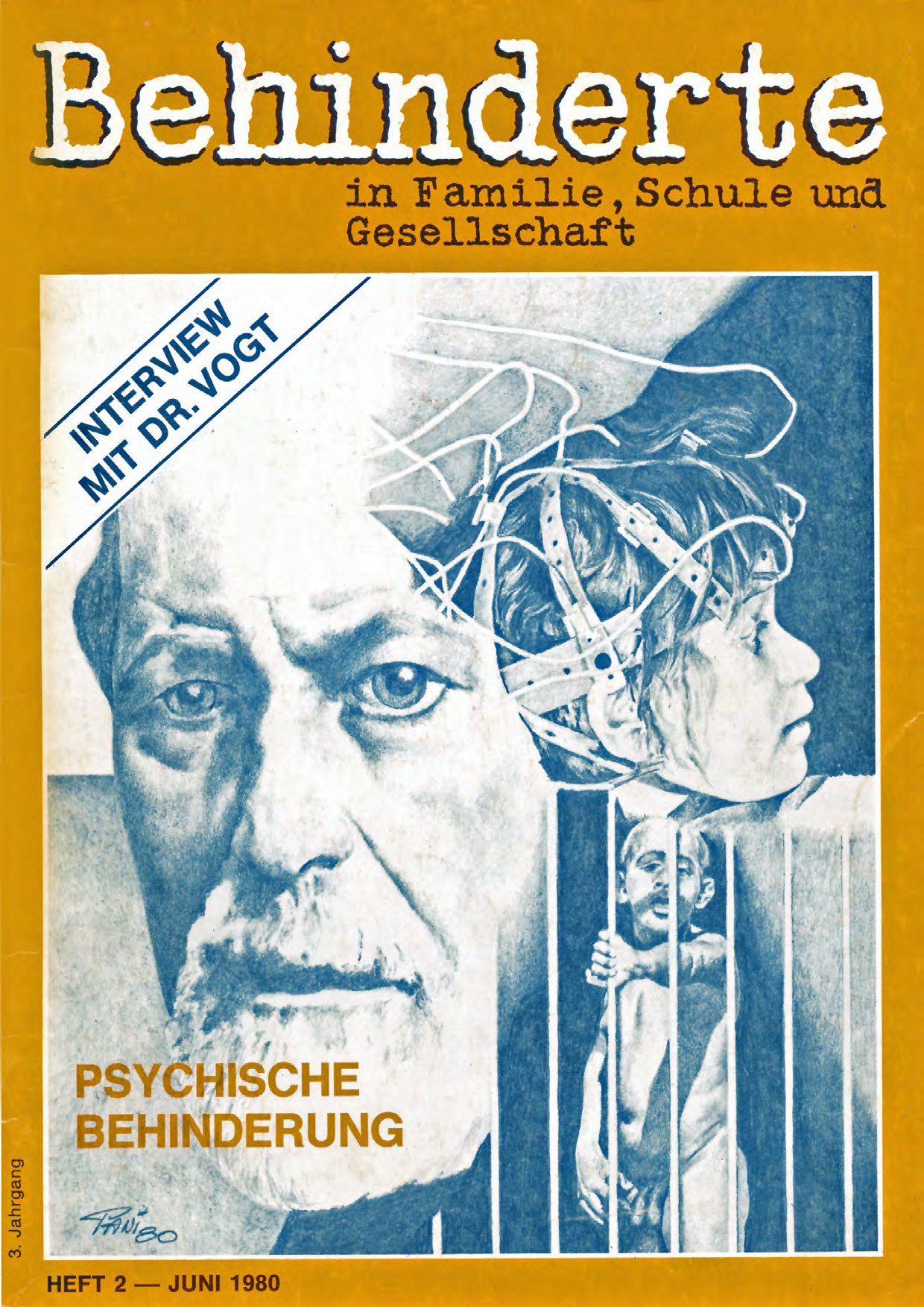 """Titelbild der Zeitschrift BEHINDERTE MENSCHEN, Ausgabe 2/1980 """"Psychische Behinderung"""""""