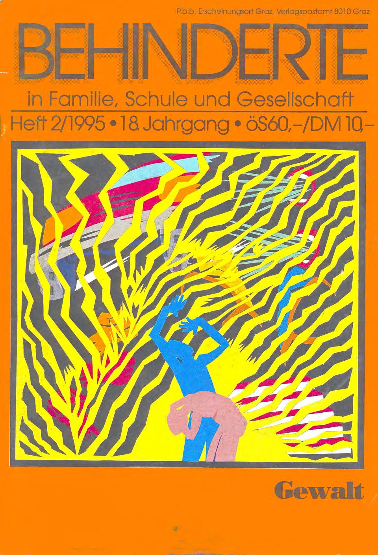 """Titelbild der Zeitschrift BEHINDERTE MENSCHEN, Ausgabe 2/1995 """"Gewalt"""""""