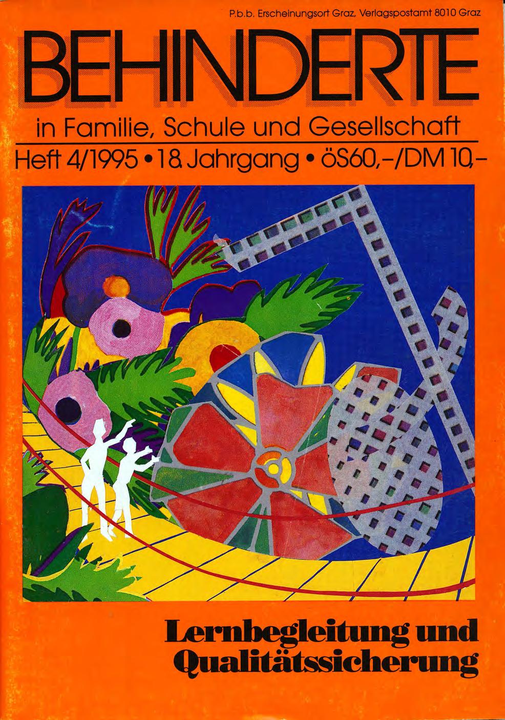 """Titelbild der Zeitschrift BEHINDERTE MENSCHEN, Ausgabe 4/1995 """"Lernbegleitung und Qualitätssicherung"""""""