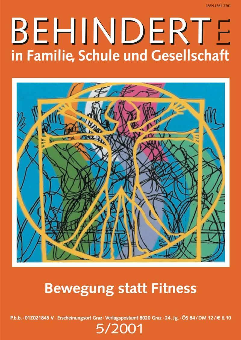 """Titelbild der Zeitschrift BEHINDERTE MENSCHEN, Ausgabe 5/2001 """"Bewegung statt Fitness"""""""