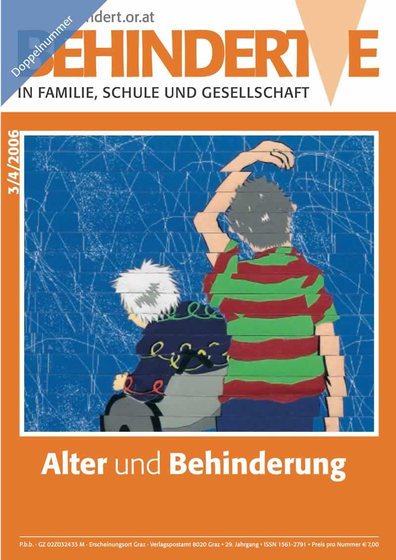 """Titelbild der Zeitschrift BEHINDERTE MENSCHEN, Ausgabe 3/4/2006 """"Alter und Behinderung"""""""