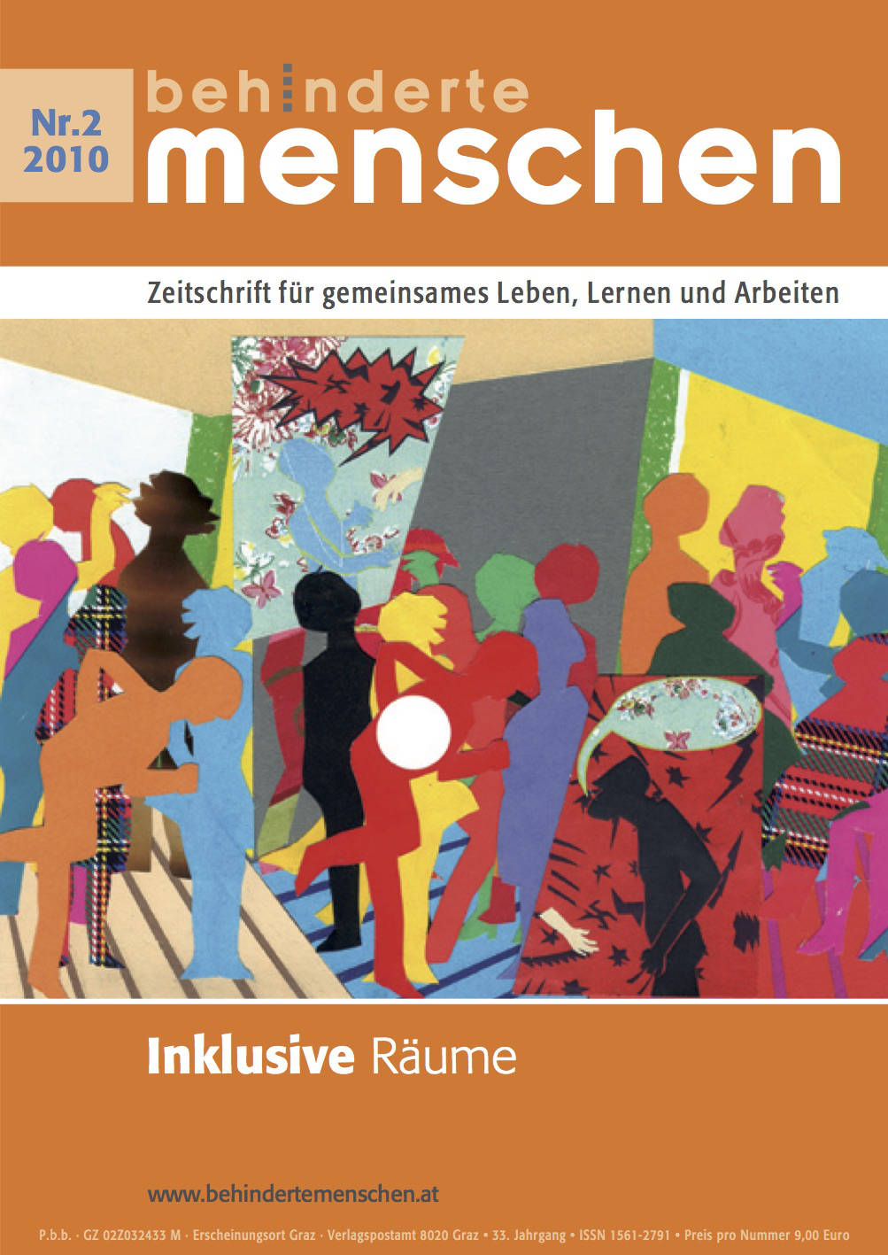 """Titelbild der Zeitschrift BEHINDERTE MENSCHEN, Ausgabe 2/2010 """"Inklusive Räume"""""""
