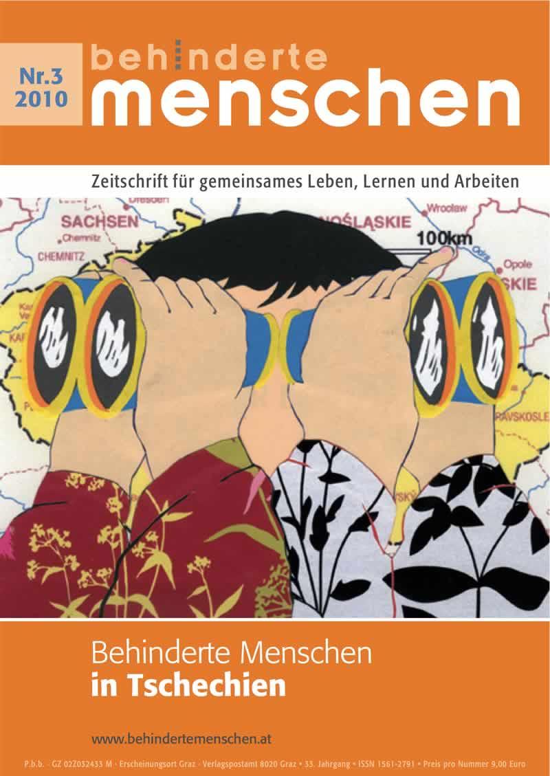 """Titelbild der Zeitschrift BEHINDERTE MENSCHEN, Ausgabe 3/2010 """"Behinderte Menschen in Tschechien"""""""