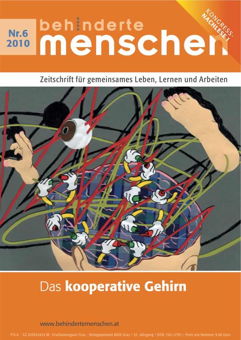 """Titelbild der Zeitschrift BEHINDERTE MENSCHEN, Ausgabe 6/2010 """"Das kooperative Gehirn"""""""